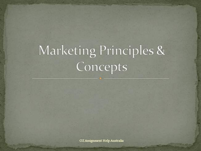 the concept and principles of marketing Original eighth edition en titled principles of marketing published by  the  societal marketing concept 22  principles for public policy towards marketing  68.
