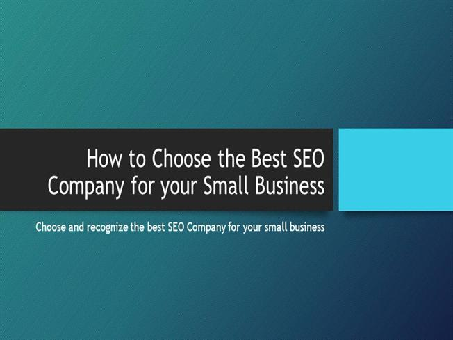 how to choose your seo company