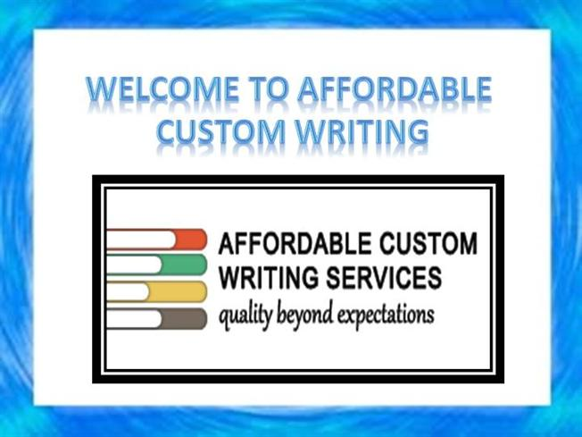 Why ask for custom writing services?