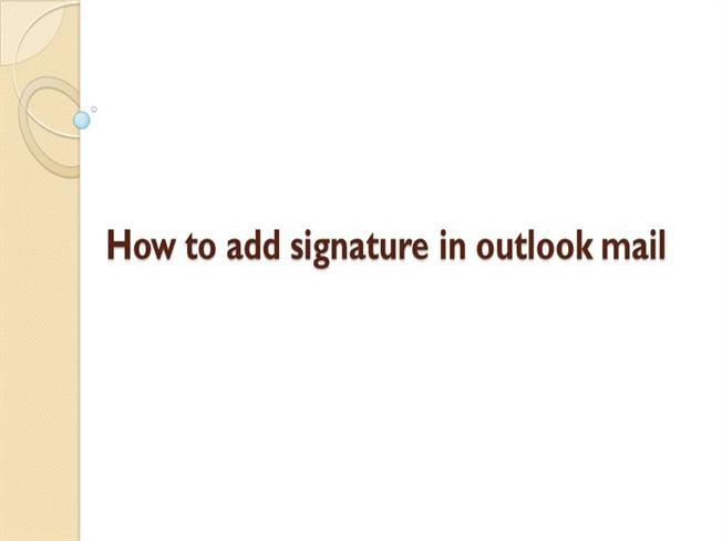 how to put signature in outlook email