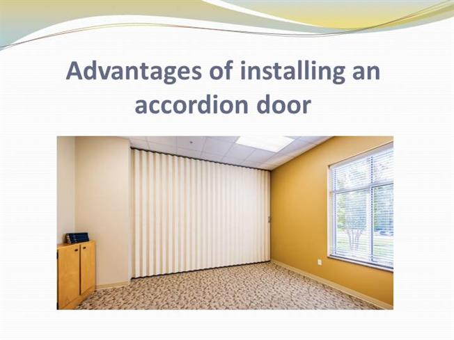 advantages of installing an accordion door