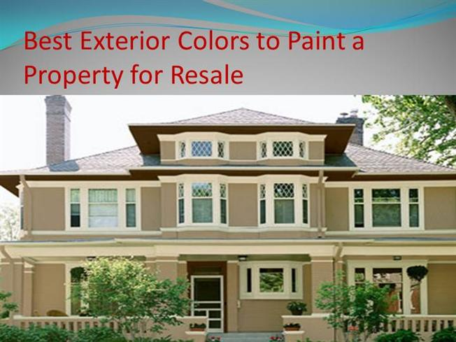 best exterior colors to paint a property for resale authorstream. Black Bedroom Furniture Sets. Home Design Ideas