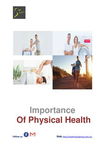 the importance of taking steps towards physical health Recovery and recovery support the adoption of recovery by behavioral health systems in recent years has signaled healthy choices that support physical and.