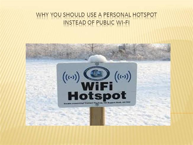 how to use personal hotspot