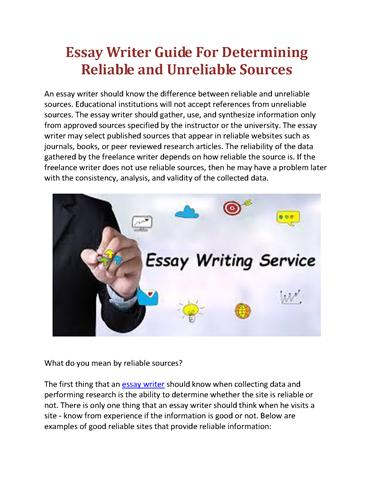 reliable essay writing services Since the question well by sufficiently analysing the causes and effects of the problems you ve service writing reliable essay got different texts.