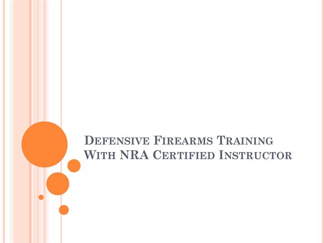 nra certificate template - defensive firearms training with nra certified instructor