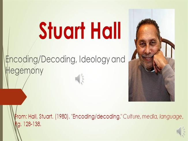 stuart hall encoding and decoding essay Stuart hall - topic videos playlists channels about home trending history get youtube red get youtube tv stuart hall essay encoding decoding.