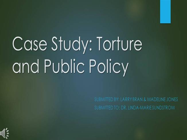 """case study 15 torture and public policy A case study in police torture, racism  and the  """"reparations for  burge torture victims"""" memorandum of understanding  tell students they will  have 15 minutes to discuss the questions in small groups  had been violated """" but not by any of the individual defendants or even by the city's policy (as the jury."""