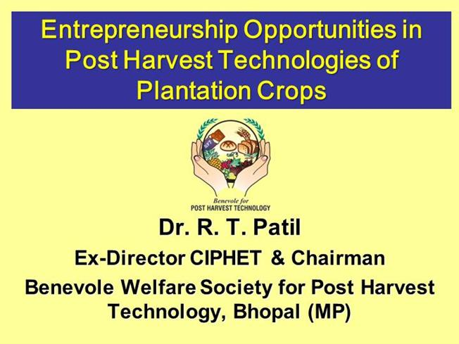 Entrepreneur... Harvest Technology