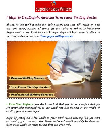 On-line Writing Service Order Custom Essay, Term Paper