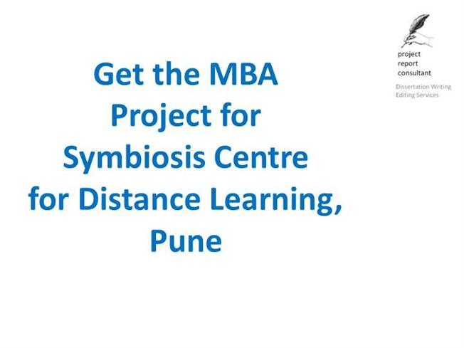 Distance Learning Symbiosis Centre For Distance Learning