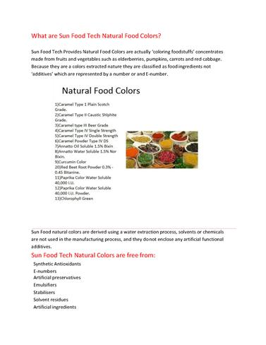 Natural Food Colors |authorSTREAM