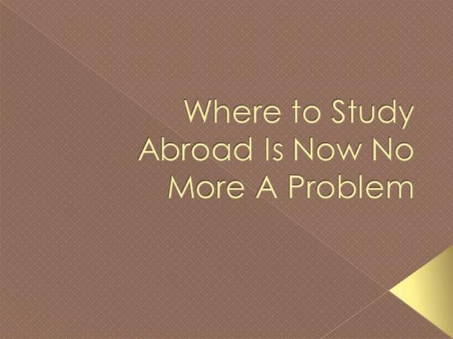 study abroad problems At studyoverseas you will find a university to study abroad bachelors degree, for international student looking to get a degree qualification abroad.