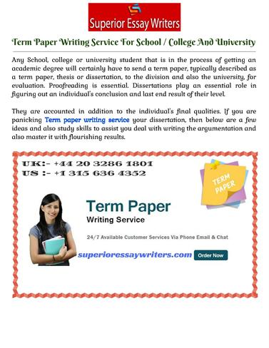 term paper research services