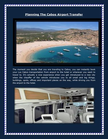 Planning The Cabos Airport Transfer Authorstream