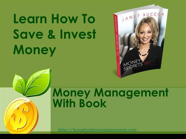 How To Save Manage And Invest Money Authorstream