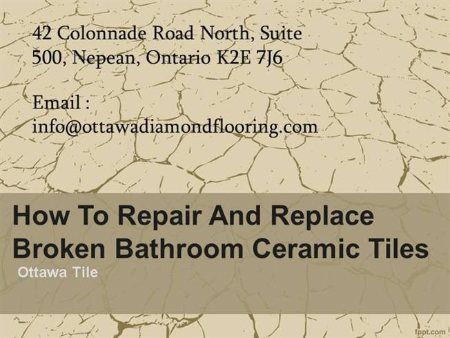 How To Replace A Broken Bathroom Tile Repairing A