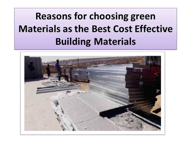 Best cost effective building materials authorstream for Cost effective ways to build a house