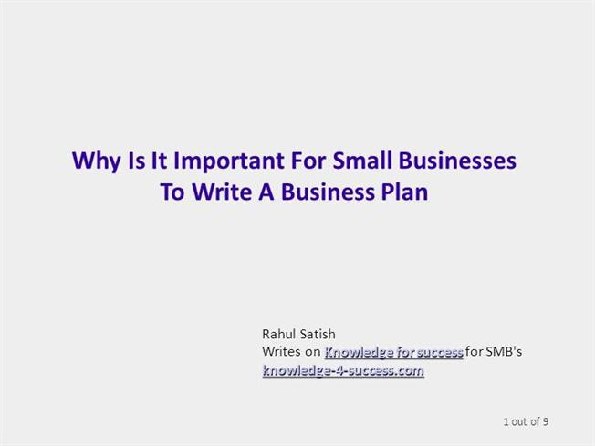 why business plan important to supplier