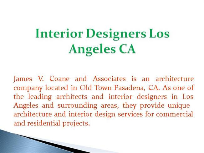 Interior Designers Los Angeles Ca Authorstream