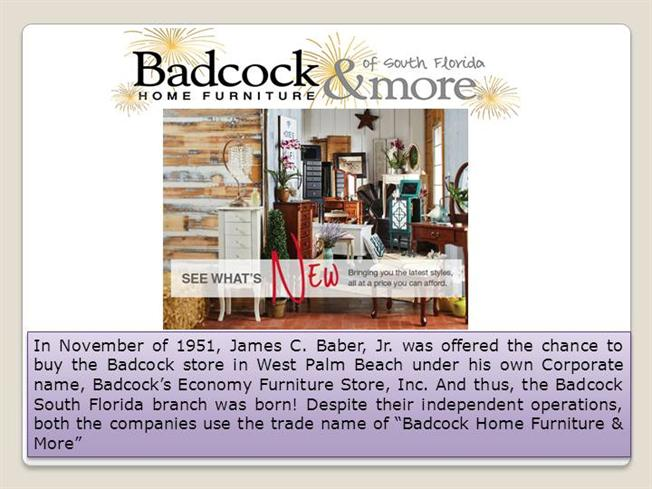 Furniture stores south florida authorstream Badcock home furniture more greenwood sc