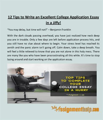 Application essay writing ppt