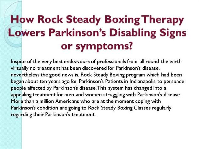 how rock steady boxing therapy lowers parkinson s disabling authorstream. Black Bedroom Furniture Sets. Home Design Ideas