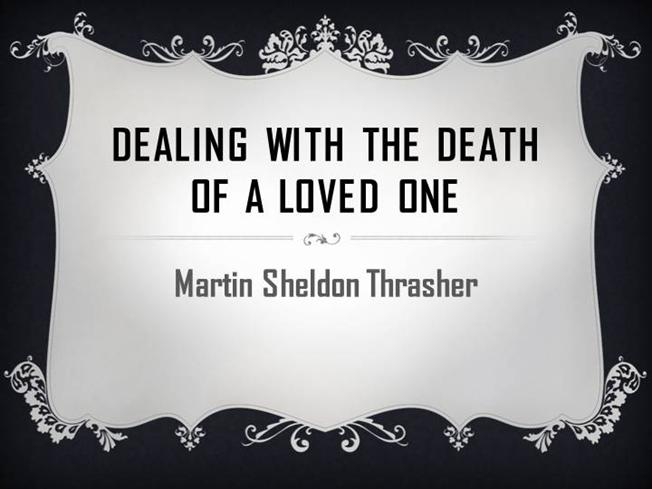 coping with the death of a loved one - essay