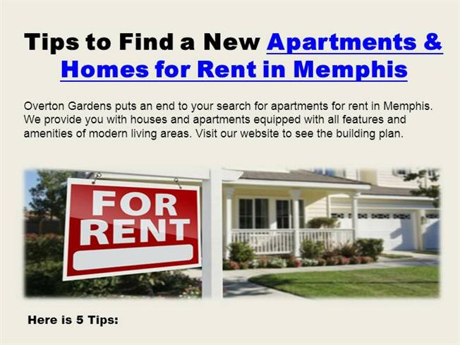 tips to find a new apartments homes for rent in memphis authorstream. Black Bedroom Furniture Sets. Home Design Ideas