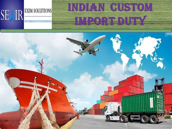 introduction to indian customs duty Indian customs & central excise department is the traced is requested to resend is it liable to charge the custom duty on thing of indian origin and 8.