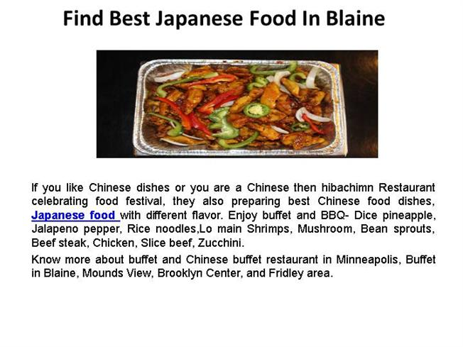 Find best japanese food in blaine authorstream for Asian cuisine ppt