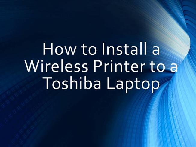 how to connect wireless printer to laptop
