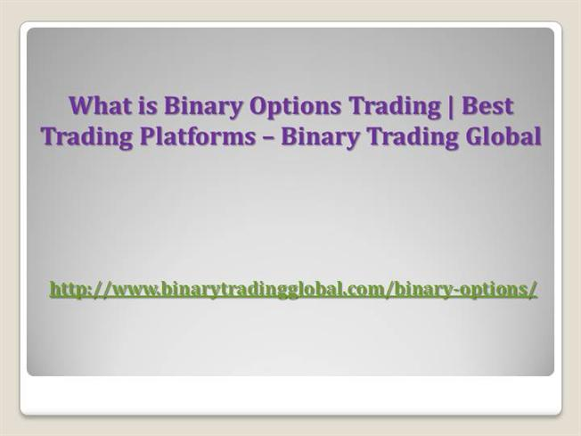 What is binary options in trading