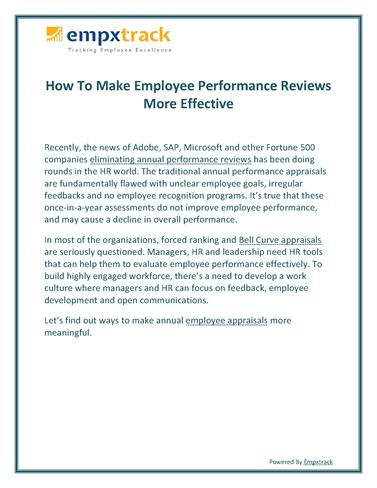 How To Make Employee Performance Reviews More Effective Authorstream