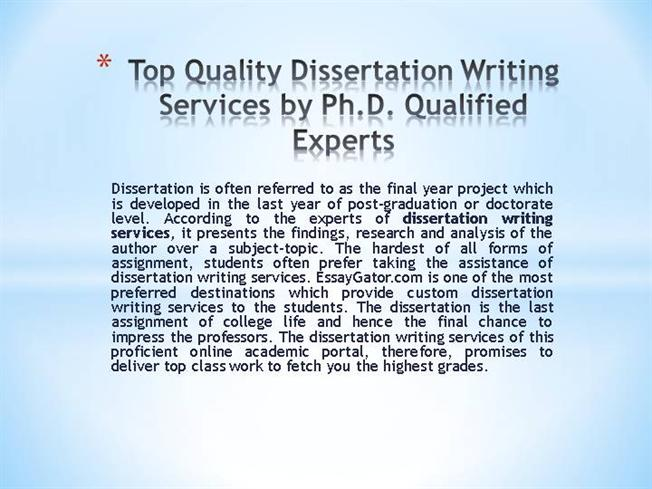 Custom dissertation writing services best