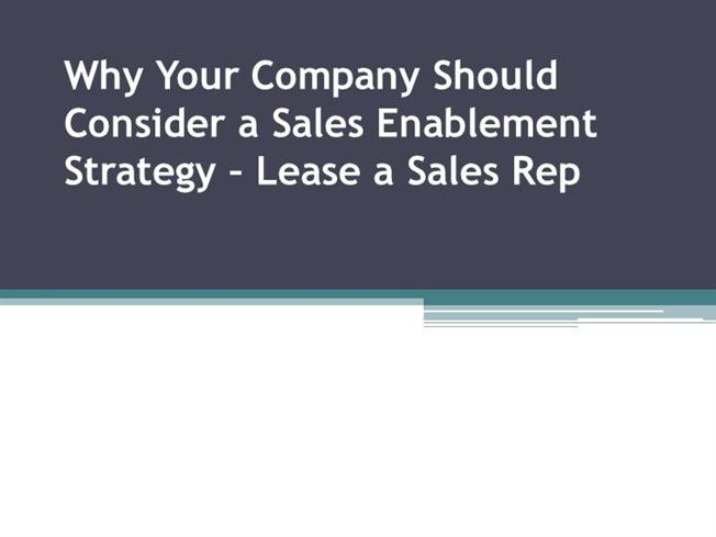 why your company should consider a sales enablement strategy authorstream. Black Bedroom Furniture Sets. Home Design Ideas