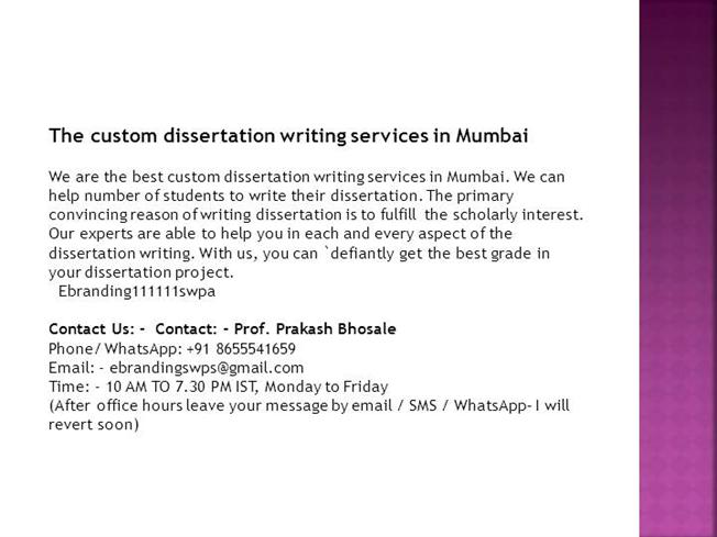 Professional dissertation writing mumbai