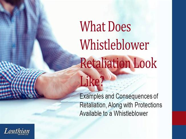 whistleblowing and the consequences 30102014 this talk was given at a local tedx event, produced independently of the ted conferences in his last job, manda nkuhlu was responsible for investing in.