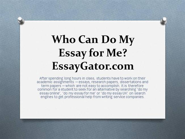 do essay in time