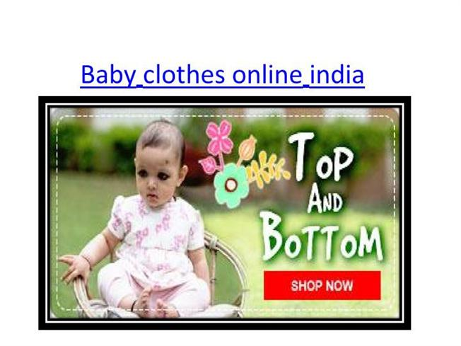 Baby clothes online india