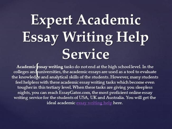 Academic essay writing service books