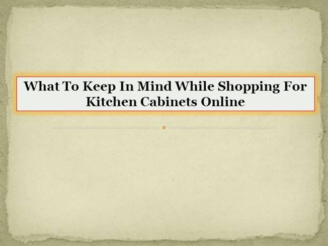 what to keep in mind while shopping for kitchen cabinets