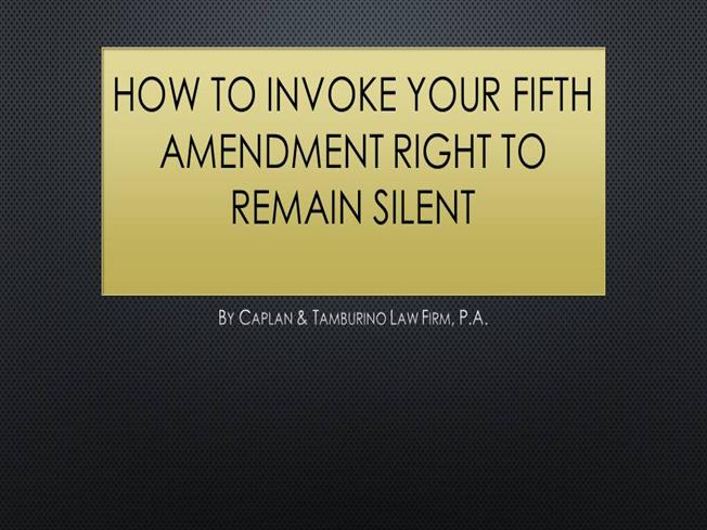 5th amendment right to be free The fifth amendment also refers to the practice of invoking the right to remain  silent rather than incriminating oneself it protects guilty as well as innocent.