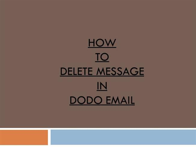 how to delete outlook mail message