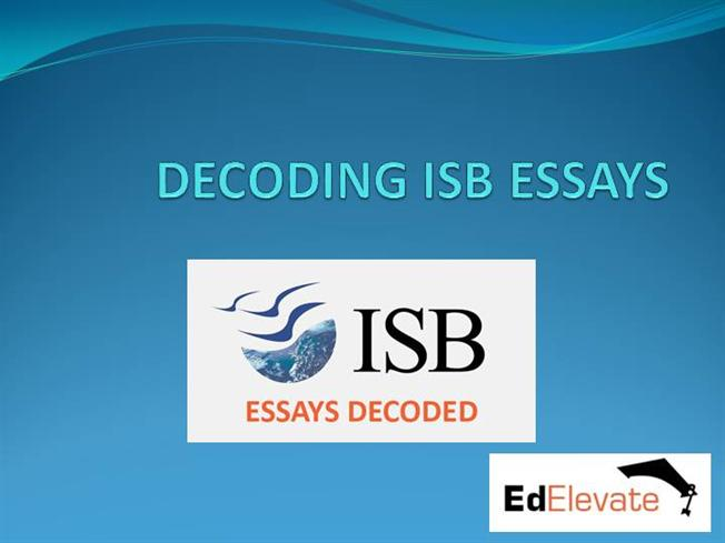 isb essays 2012-13 Premium isb admissions essays and application help from top isb alumni story creation, essays, application strategy outstanding success rates.