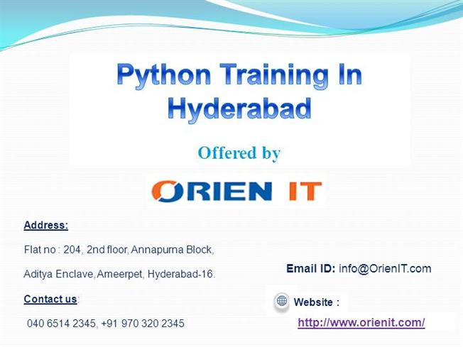 Python training in hyderabad authorstream for Python email template