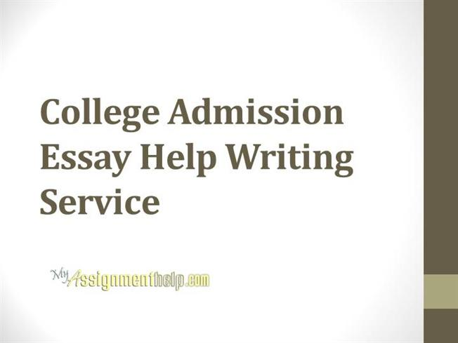 Help with college entrance essay