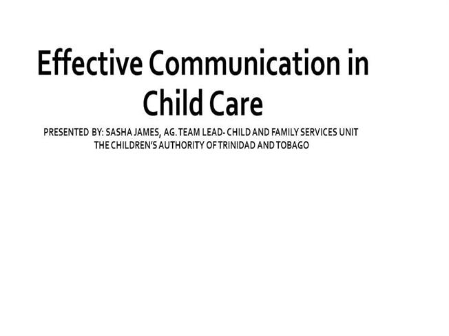 why people communicate in childcare As a child care provider how to communicate with parents feb 9, 2010 as a child care provider, you soon discover that developing positive relationships with.