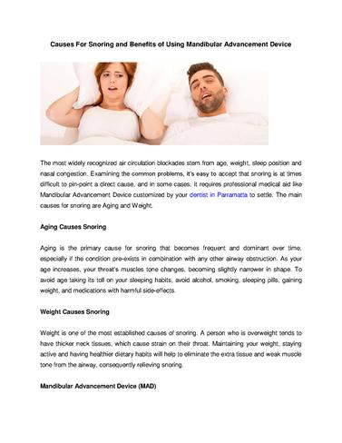 common causes of snoring essay Common causes of snoring age as you reach middle age and beyond, your throat becomes narrower, and the muscle tone in your throat decreases.