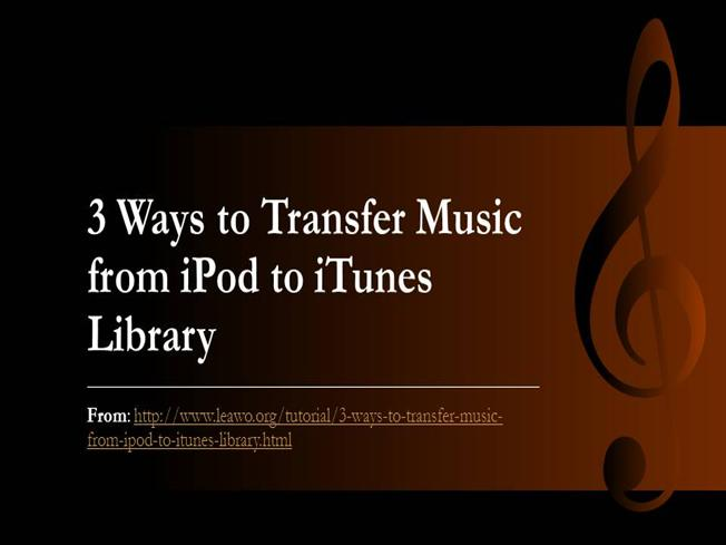 how to get music from ipod to itunes library